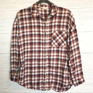 I love H81 plaid flannel button down shirt
